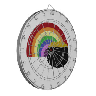 Colored Rainbow And Pot Of Gold Dartboard