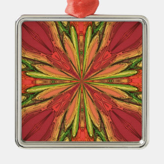 Colored Rays Christmas Ornament