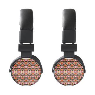 Colored Roses Pattern Headphones