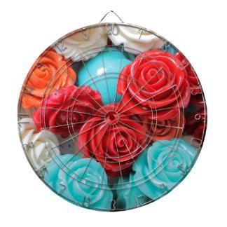 colored roses stones dartboard