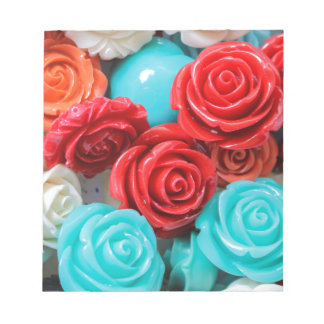 colored roses stones notepad