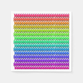 Colored Scales Paper Serviettes