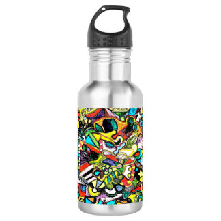 Colored Shapes Water Bottle 532 Ml Water Bottle