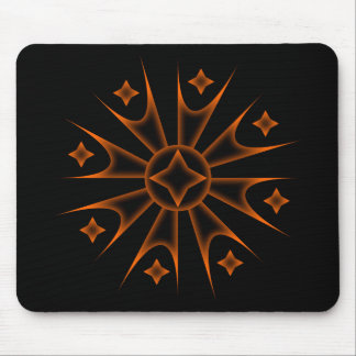 Colored Spike Stars Mouse Pad