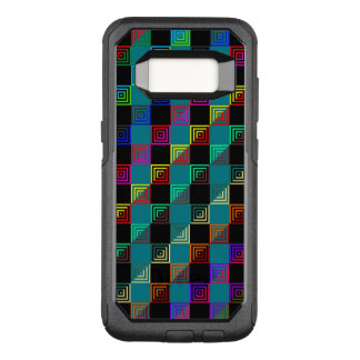 Colored squares half-and-half OtterBox commuter samsung galaxy s8 case