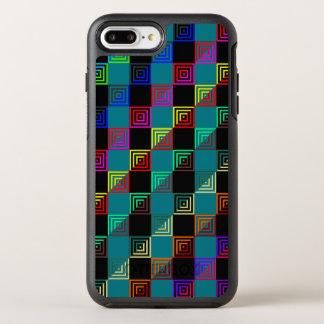 Colored squares half-and-half OtterBox symmetry iPhone 8 plus/7 plus case