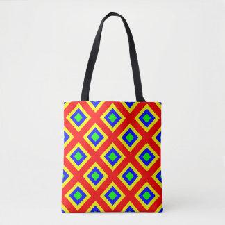 colored squares tote bag