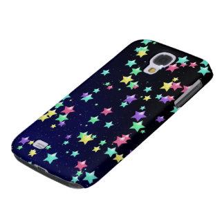 Colored Stars Art Galaxy S4 Case