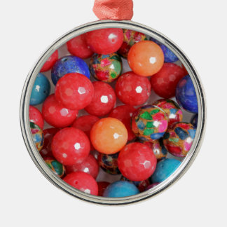 colored stones christmas ornament