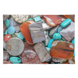 colored stones placemat