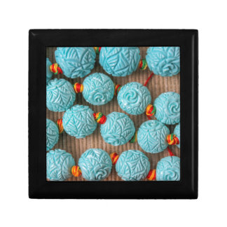 colored stones small square gift box