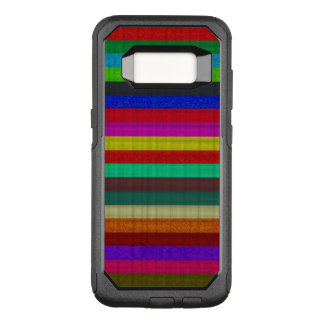 Colored stripes tile texture OtterBox commuter samsung galaxy s8 case