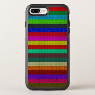 Colored stripes tile texture OtterBox symmetry iPhone 7 plus case