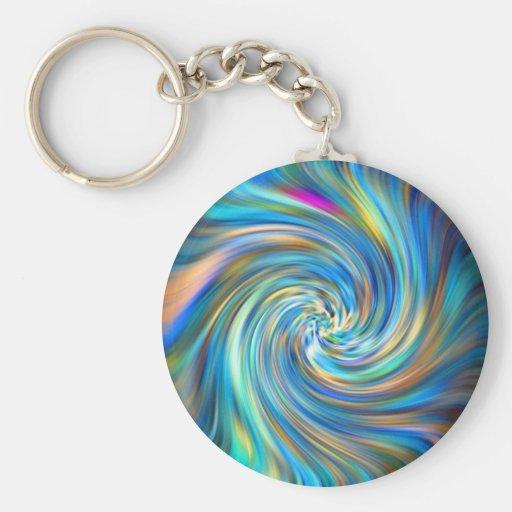 Colored Swirl Key Chain