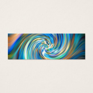 Colored Swirl Mini Business Card