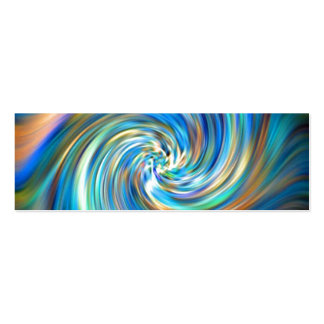 Colored Swirl Pack Of Skinny Business Cards