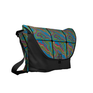Colored Tapestry Courier Bag
