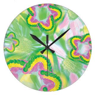 Colored Teeth Model Flower Dentist Wall Clock