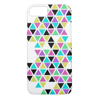 Colored Triangle Print Phone Case