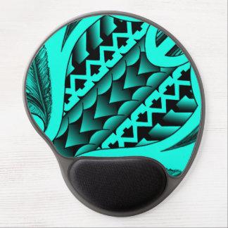 colored tribal maori tatau design with feathers gel mouse pad