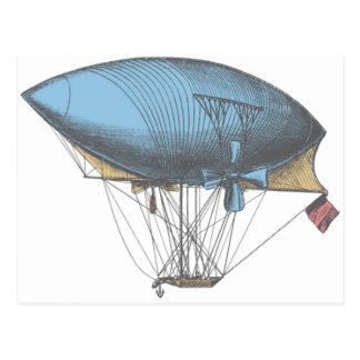 Colored Vintage Airship Post Card