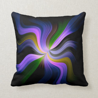 Colored Waves Light Rays Art Design Cushion