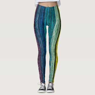 colored wood leggings