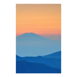 colorfol mountains stationery paper