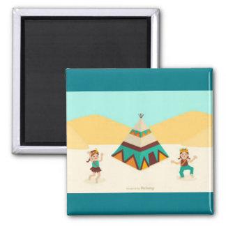 Colorfuk egyptian tribal dance magnet