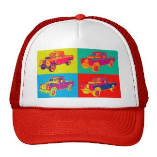 Colorful 1971 Land Rover Pickup Truck Pop Art Cap