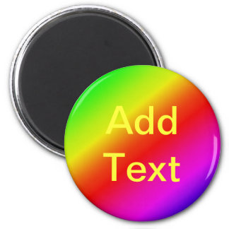 Colorful 2 Diagonal Stripes 6 Cm Round Magnet