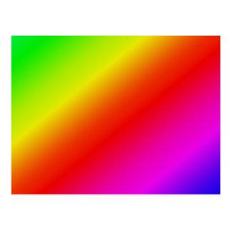 Colorful 2 Diagonal Stripes Postcard