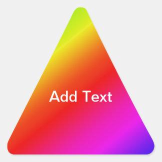 Colorful 2 Diagonal Stripes Triangle Sticker
