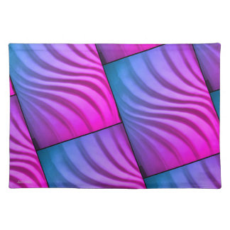 Colorful 3-D Swirl Placemat