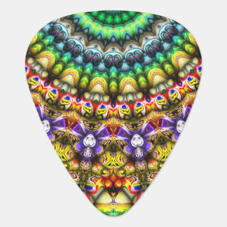 Colorful 3D Abstract Sun Plectrum