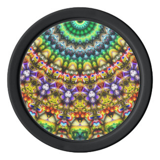 Colorful 3D Abstract Sun Poker Chips