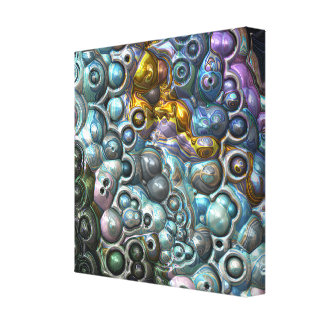 Colorful 3D Clusters Canvas Print