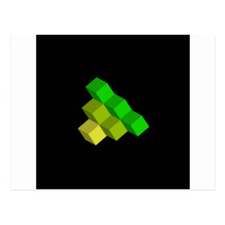 colorful 3d cubes postcard