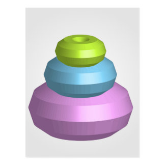 Colorful 3d object postcard