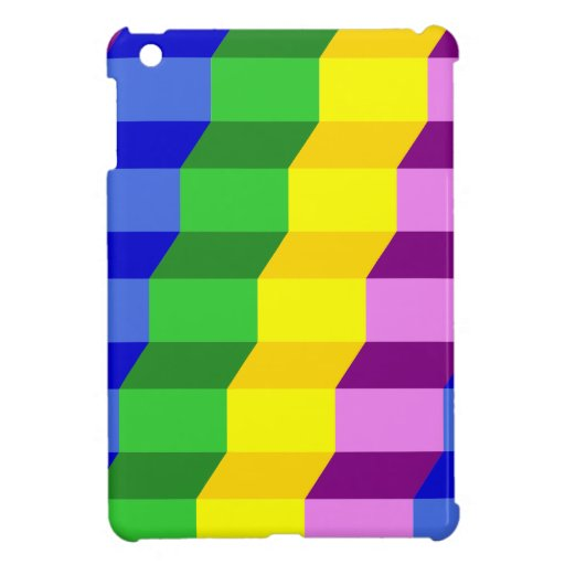 Colorful 3D Staircase Optical Illusion Pattern iPad Mini Cases