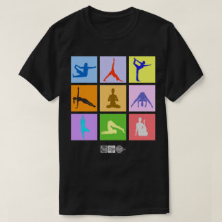 Colorful 9 Yoga Poses Men's T-shirt