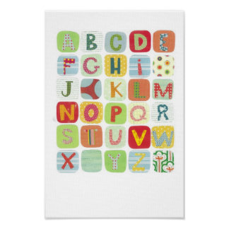Colorful ABC Canvas Poster