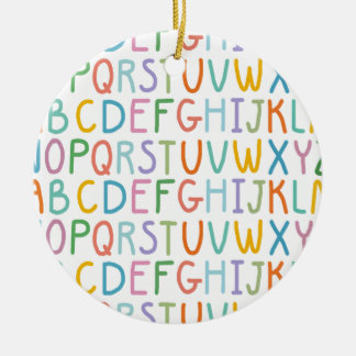 Colorful ABCs Christmas Ornament
