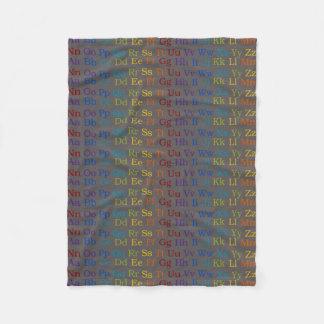 Colorful ABC's Fleece Blanket