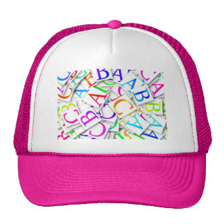 Colorful ABCs Trucker Hat