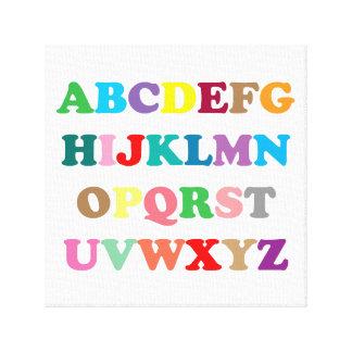 Colorful ABC's lettering Canvas Print