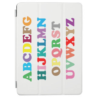 Colorful ABC's lettering iPad Air Cover