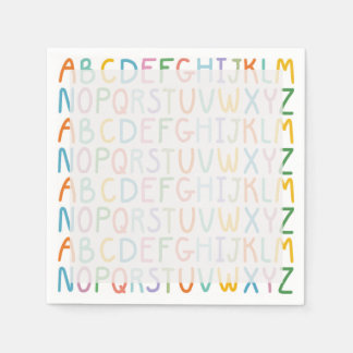 Colorful ABCs Paper Serviettes