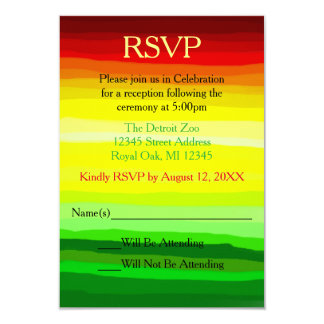 Colorful Abstact Landscape - Reception RSVP Card
