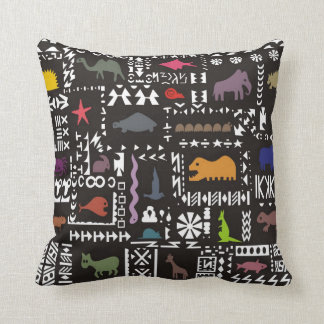Colorful abstract African art Cushion